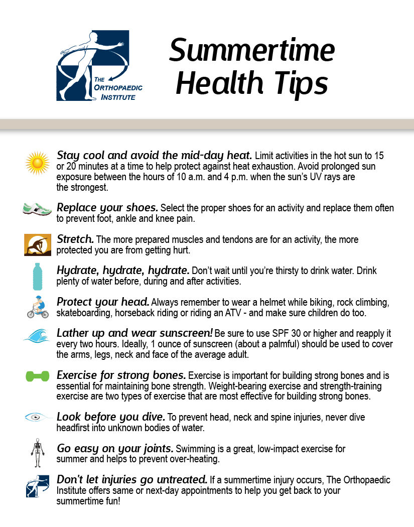Summer Time Health Tips